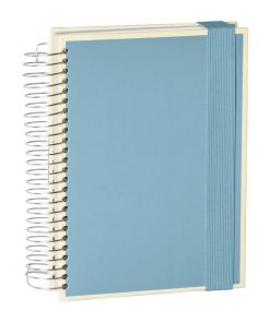 Mucho (A5) spiral-bound notebook, 330 pages, 3 different rulings, ciel | 4250053636954 | 351559