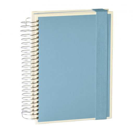 Mucho (A5) spiral-bound notebook, 330 pages, 3 different rulings, ciel   4250053636954   351559