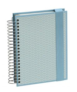 Mucho (A5) spiral-bound notebook, 330 pages, 3 different rulings, ciel | 4250540927114 | 354809