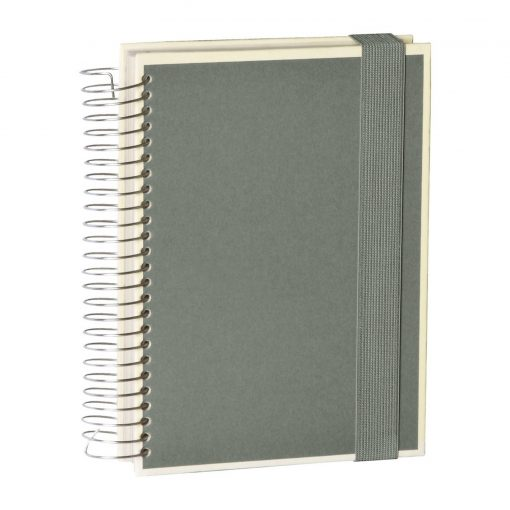 Mucho (A5) spiral-bound notebook, 330 pages, 3 different rulings, grey | 4250053636992 | 351562