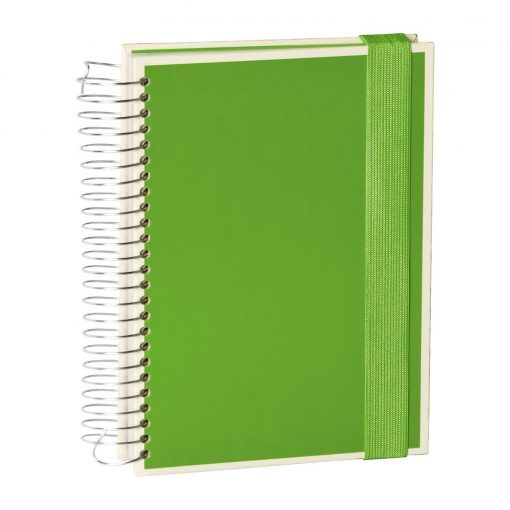 Mucho (A5) spiral-bound notebook, 330 pages, 3 different rulings, lime | 4250053636978 | 351561