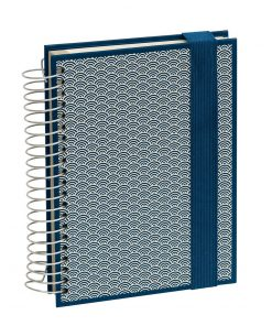 Mucho (A5) spiral-bound notebook, 330 pages, 3 different rulings, marine | 4250540927107 | 354808