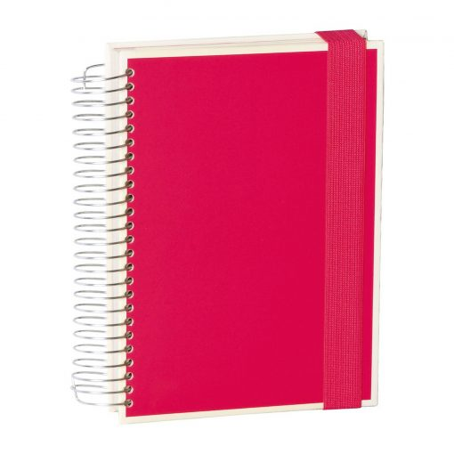 Mucho (A5) spiral-bound notebook, 330 pages, 3 different rulings, pink | 4250053636930 | 351556