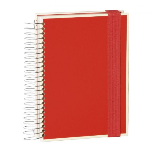 Mucho (A5) spiral-bound notebook, 330 pages, 3 different rulings, red | 4250053636923 | 351554