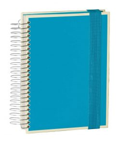 Mucho (A5) spiral-bound notebook, 330 pages, 3 different rulings, turquoise | 4250053696484 | 351566