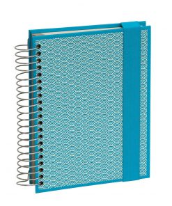 Mucho (A5) spiral-bound notebook, 330 pages, 3 different rulings, turquoise | 4250540927121 | 354810