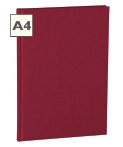Notebook Classic (A4) book linen cover, 160 pages, plain, burgundy | 4250053604977 | 351234