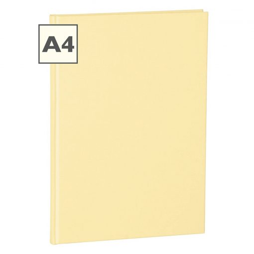 Notebook Classic (A4) book linen cover, 160 pages, plain, chamois | 4250053645246 | 351244
