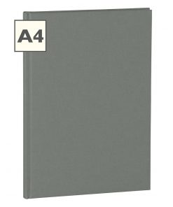 Notebook Classic (A4) book linen cover, 160 pages, plain, grey | 4250053616239 | 351242
