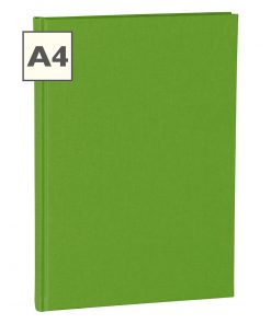 Notebook Classic (A4) book linen cover, 160 pages, plain, lime | 4250053605042 | 351240