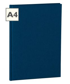 Notebook Classic (A4) book linen cover, 160 pages, plain, marine | 4250053604953 | 351232