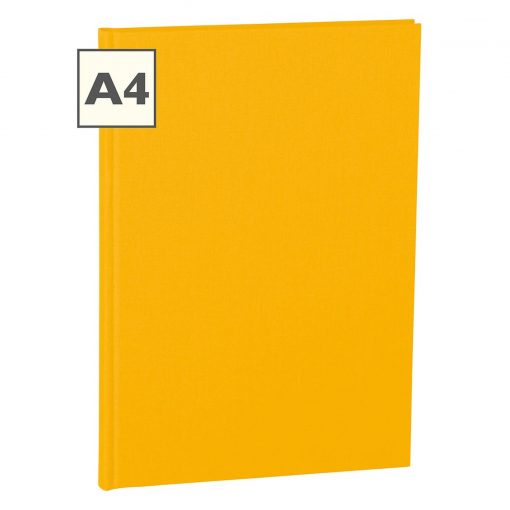 Notebook Classic (A4) book linen cover, 160 pages, plain, sun | 4250053604939 | 351231