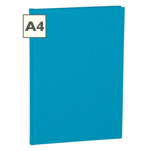 Notebook Classic (A4) book linen cover, 160 pages, plain, turquoise | 4250053696309 | 351246
