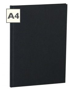 Notebook Classic (A4) book linen cover, 160 pages, ruled, black | 4250053600900 | 350924
