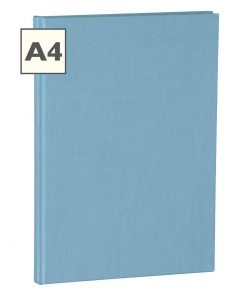Notebook Classic (A4) book linen cover, 160 pages, ruled, ciel | 4250053626566 | 350926