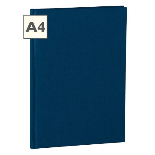 Notebook Classic (A4) book linen cover, 160 pages, ruled, marine | 4250053600863 | 350920