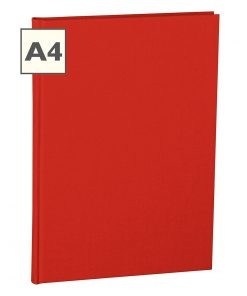 Notebook Classic (A4) book linen cover, 160 pages, ruled, red | 4250053600870 | 350921