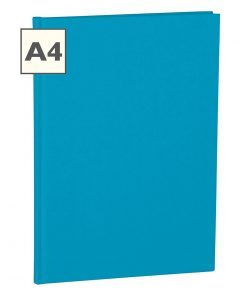Notebook Classic (A4) book linen cover, 160 pages, ruled, turquoise | 4250053696316 | 350934