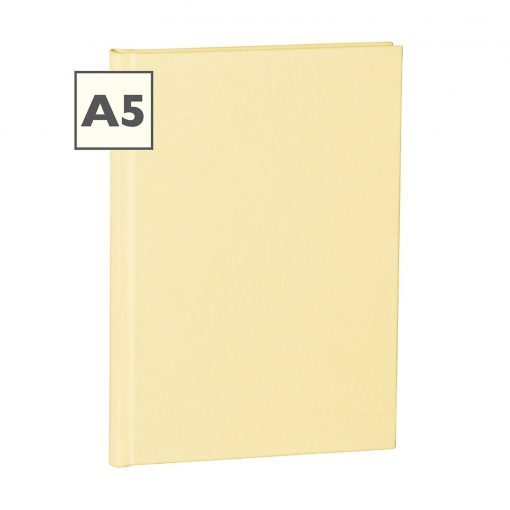 Notebook Classic (A5) book linen cover, 160 pages, plain, chamois | 4250053645208 | 351227