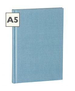 Notebook Classic (A5) book linen cover, 160 pages, plain, ciel | 4250053604373 | 351221