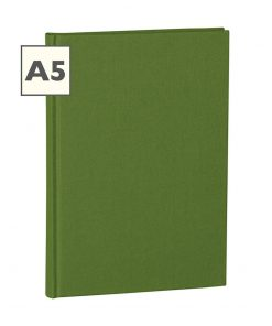 Notebook Classic (A5) book linen cover, 160 pages, plain, irish | 4250053613764 | 351220