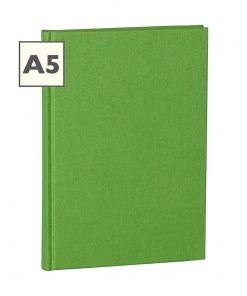 Notebook Classic (A5) book linen cover, 160 pages, plain, lime | 4250053604403 | 351223