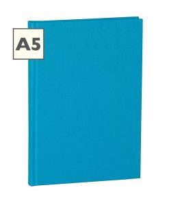 Notebook Classic (A5) book linen cover, 160 pages, plain, turquoise | 4250053696286 | 351229
