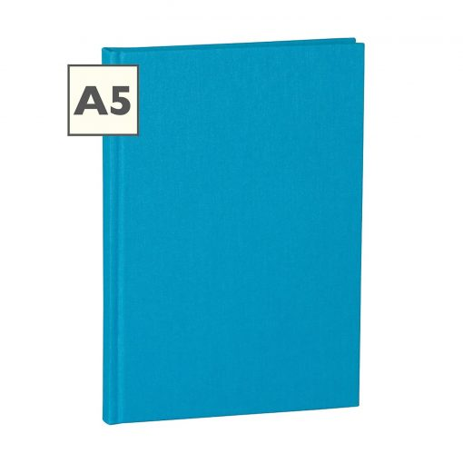 Notebook Classic (A5) book linen cover, 160 pages, plain, turquoise   4250053696286   351229