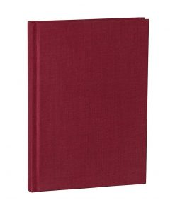 Notebook Classic (A5) dotted, book linen cover, 144 pages, burgundy | 4004117517679 | 356166