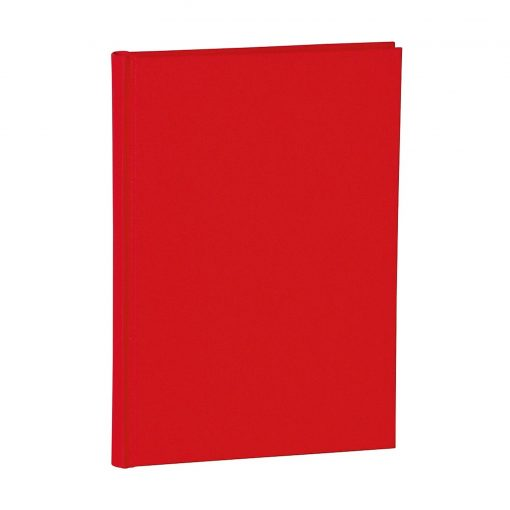Notebook Classic (A5) dotted, book linen cover, 144 pages, red | 4004117517662 | 356165