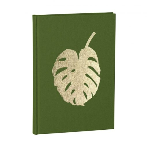 Notebook Classic A5 Monstera gold embossing, plain, linen, 144 pages, irish | 4004117546327 | 359073