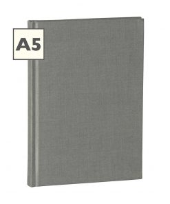 Notebook Classic (A5) ruled, book linen cover, 160 pages, grey | 4250053600757 | 350914