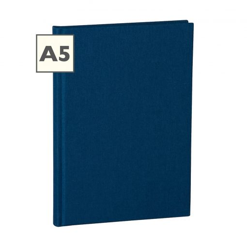 Notebook Classic (A5) ruled, book linen cover, 160 pages, marine | 4250053626559 | 350904