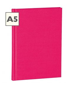Notebook Classic (A5) ruled, book linen cover, 160 pages, pink | 4250053600689 | 350907