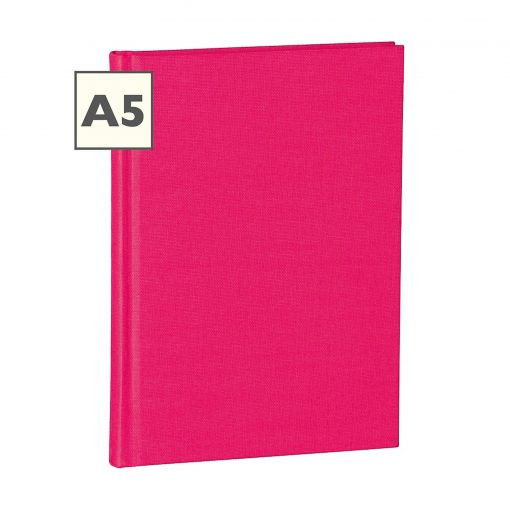 Notebook Classic (A5) ruled, book linen cover, 160 pages, pink   4250053600689   350907