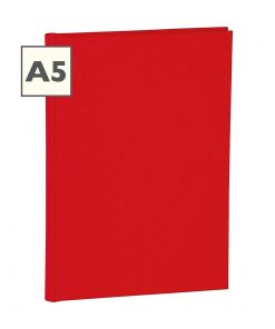 Notebook Classic (A5) ruled, book linen cover, 160 pages, red | 4250053600665 | 350905