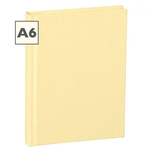 Notebook Classic (A6) book linen cover, 160 pages, plain, chamois | 4250053645185 | 351211