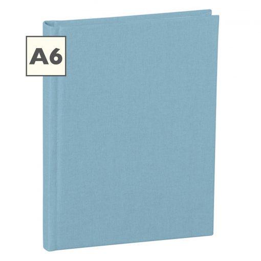 Notebook Classic (A6) book linen cover, 160 pages, plain, ciel | 4250053604007 | 351205