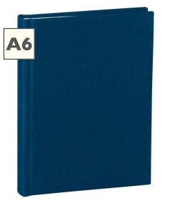 Notebook Classic (A6) book linen cover, 160 pages, plain, marine | 4250053603949 | 351199