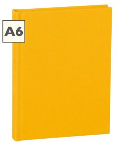 Notebook Classic (A6) book linen cover, 160 pages, plain, sun | 4250053603925 | 351198