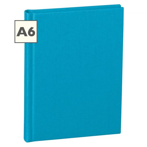 Notebook Classic (A6) book linen cover, 160 pages, plain, turquoise   4250053696279   351213