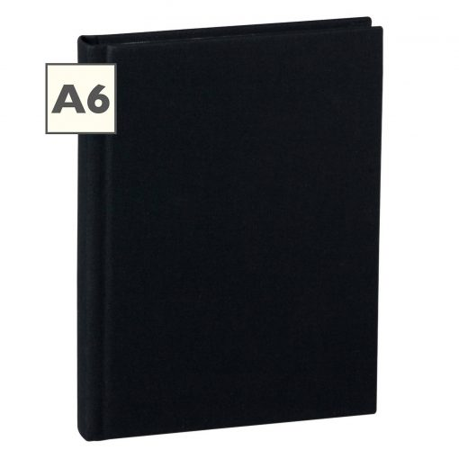 Notebook Classic (A6) book linen cover, 160 pages, ruled, black   4250540910468   350893