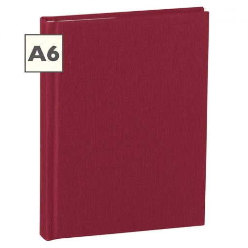 Notebook Classic (A6) book linen cover, 160 pages, ruled, burgundy | 4250540910741 | 350891