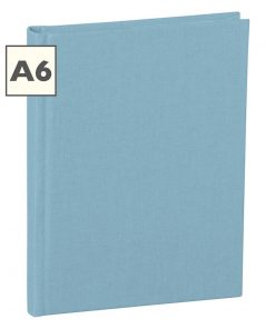 Notebook Classic (A6) book linen cover, 160 pages, ruled, ciel | 4250540910475 | 350895
