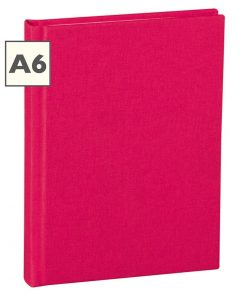 Notebook Classic (A6) book linen cover, 160 pages, ruled, pink | 4250540910451 | 350892