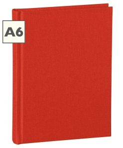 Notebook Classic (A6) book linen cover, 160 pages, ruled, red | 4250540910444 | 350890