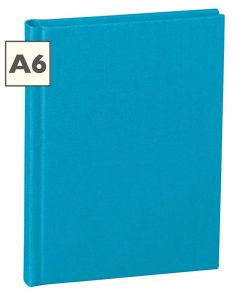 Notebook Classic (A6) book linen cover, 160 pages, ruled, turquoise | 4250540910536 | 350902