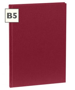 Notebook Classic (B5) book linen cover, 160 pages, plain, burgundy | 4250540921334 | 351282