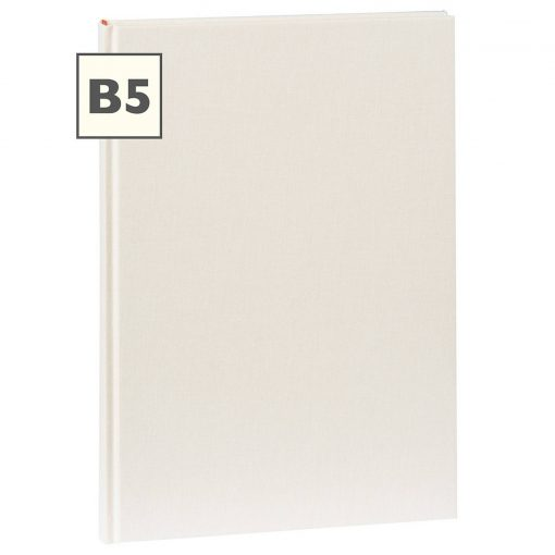 Notebook Classic (B5) book linen cover, 160 pages, plain, chamois | 4250540921419 | 351291
