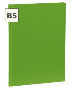 Notebook Classic (B5) book linen cover, 160 pages, plain, lime | 4250540921389 | 351288